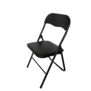 MONICA STEEL FOLDING CHAIR BLACK