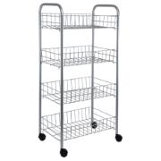 DOMESTIK TROLLEY 4 TIERS METALIC
