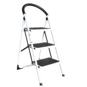 METAL FOLDING STEP STOOL WITH 3 STEPS