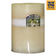 STUDIO HOUSE WIN CANDLE BEIGE 6.8X7.2CM (VANILLA)