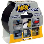 HPX CLOTH TAPE BLACK 48MMX5M