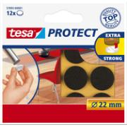 TESA 12PCS FELTS 22mm BROWN
