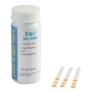 3 WAY TEST STRIPS FREE CHLORIN