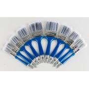 BRUSH SET 10 PC PLASTIC HANDLE