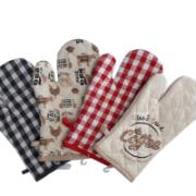 ASSORTED PRINTED OVEN GLOVES 18X30CM