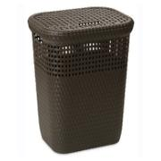 DEA LAUNDRY BASKET 60 LTR BROWN