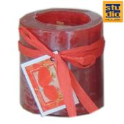 STUDIO HOUSE WIN CANDLE RED 6.8X7.2CM (STRAWBERRY)