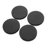 P W 12PCS 20mm NON-SLIP PADS BLACK