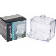 EARSWABS BOX CLEAR PS WITH LID