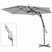 PUSH UP HANGING UMBRELLA 3M WHITE