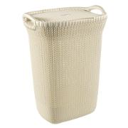 CURVER KNIT LAUNDRY BASKET 57L WHITE