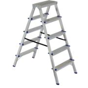 ELKOP DOUBLE SIDE ALUMINIUM LADDER 5 STEPS