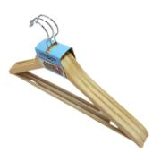 WOODEN HANGERS 3PCS PVC NAT