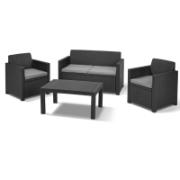 KETER MERANO 4PCS SOFA SET GRAPHITE