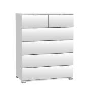 CHEST PERFECT 6 DRAWERS PEARL WHITE