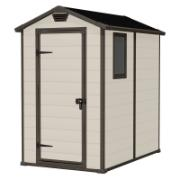 KETER MANOR SHED 4X6FT BEIGE