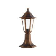 SUNLIGHT HEXAGONAL LANTERN POST LIGHT 1xE27 IP44