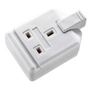MASTERPLUG GANG E/SOCKET RUBBER WHITE 1G