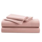 IONION BEDSHEET FITTED COTTON 160X200X28CM MISTY ROSE