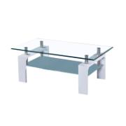 LILY COFEE TABLE 110X60X43CM WHITE
