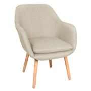 ALYSON FABRIC DING CHAIR CREAM