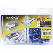 TRIPLEGRIP toggle +Screws+Drill bit+dowel