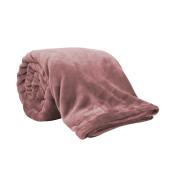 BLANKET FLEECE FLANNEL 300GSM 200X220 DARK PINK