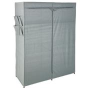 FABRIC WARDROBE WITH 2SHELVES 110x45x158 cm