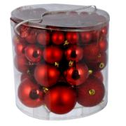 XMAS BALLS SET 54PCS RED