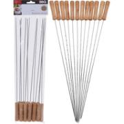 BBQ SKEWER 38CM SET 12PCS