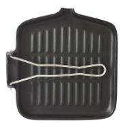 ESTIA IRON GRILL SQR 22CM W HANDLE