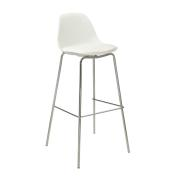 NORA KITCHEN STOOL PP SEAT WHITE
