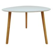TRIANGLE TABLE WHITE 55X55X45CM
