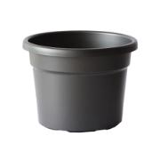 CYLINDRO POT 20X15 DEEP GREY