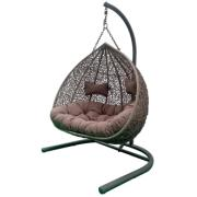 EGG DOUBLE HANGING CHAIR GREY