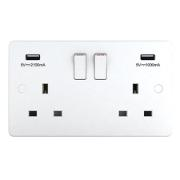 DOUBLE SOCKET USB 3.1AMP