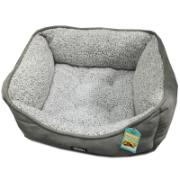 SHC PET BED SUEDE 70X56X22CM GREY