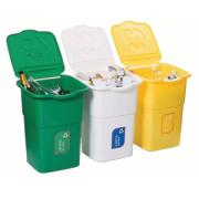 RECYCLING BINS 3PCS 50L