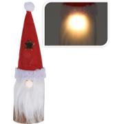 SANTA WOOD WITH LED 25CM
