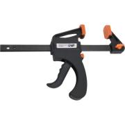 PISTOL CLAMP 15CM BLACK ORANGE