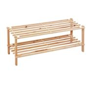 SHOE RACK 2T WOOD NAT 74X26X29.5CM