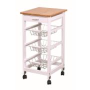 KITCHEN TROLLEY WDN 37X37X76CM
