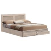 BED WITH 2 DRAWERS 150X200 OAK