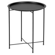 FRUIT TABLE ROUND BLACK
