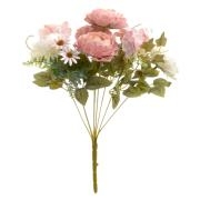 FLOWER BOUQUET WHITE/PINK H40