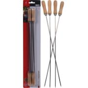BBQ SKEWER SET 4PCS S/S