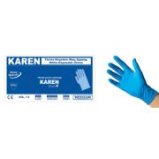 KAREN NITR BLUE DISPOSABLE GLOVES S 100PCS
