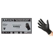 KAREN NITR BLACK DISPOSABLE GLOVES M 100PCS