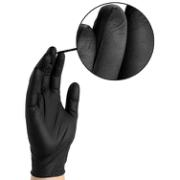 BARRIER BLACK NITRILE GLOVES