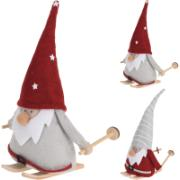 GNOME WITH SKIS 20CM 2ASS CLR